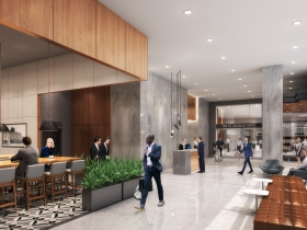 Cafe and lobby