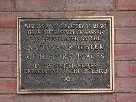 Conservatory of music historic marker