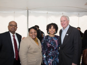 Wyman Winston, Milele Coggs, Melissa Goins, and Tom Barrett
