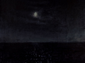 David Niec: 92% Moonrise over Lake Michigan, 2018