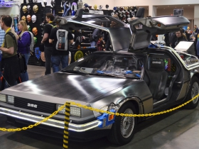 DeLorean recreation at the Midwest Gaming Classic