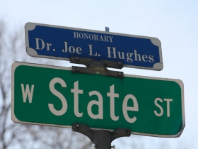 N. 29th and W. State streets (Dr. Joe L. Hughes Honorary)