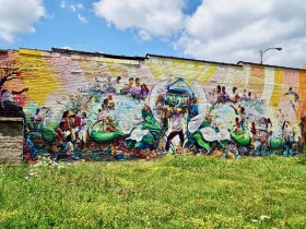 Tia Richardson's 'Sherman Park Rising' mural, 4715 W. Center St., was painted with community members a year after the Sherman Park unreset