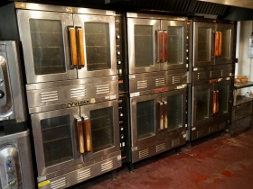 An array of Vulcan ovens awaits pies to be baked.