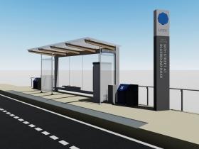 E-W BRT Station Rendering