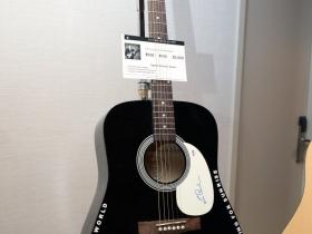 Signed acoustic guitar by Les Paul.