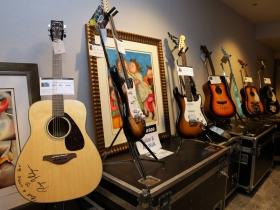 Signed acoustic guitar by Roger Hodgson, Supertramp.