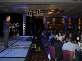 Craig Coshun at the Grand Slam Charity Jam held at the Hyatt Regency Milwaukee.