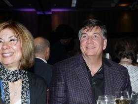 Karen Hartay with Jim Kacmarcik, President, Kapco Metal Stamping.