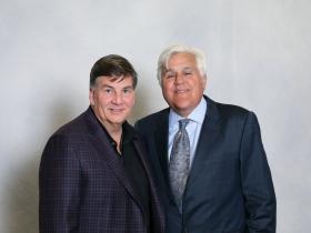 Jim Kacmarcik, President, Kapco Metal Stamping and Jay Leno.