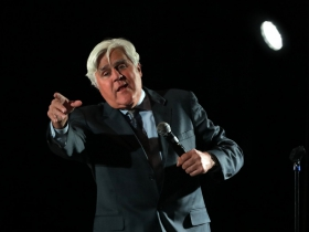 Comedy legend, Jay Leno performed at the Grand Slam Charity Jam.