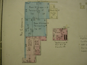 Sanborn Map of the Gettelman Brewery.