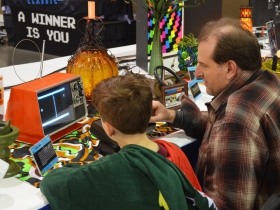 Guests at the Classic Computing Gaming Museum