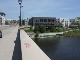 Humboldt Avenue bridge at the Milwaukee River