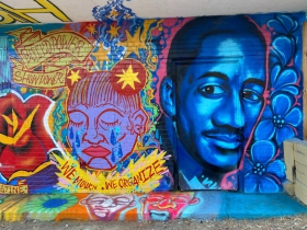 Dontre Hamilton is remembered in this mural