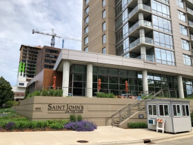 Saint John's on the Lake's north tower is rising
