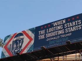When the looting starts the shooting starts - Donald Trump