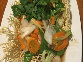 Crispy Rice Noodle with Shrimp