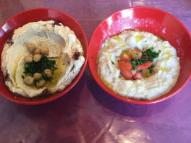 Hummus and Baba Ghannouj