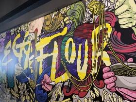 Mural inside the entrance