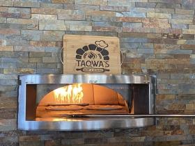 The burning stone oven