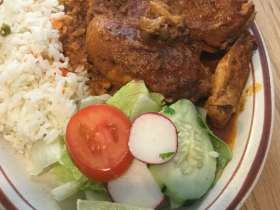 Pollo Guisada. Stewed Chicken