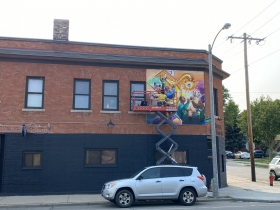 A mural by Tia Richardson at 2379 N. Holton St.