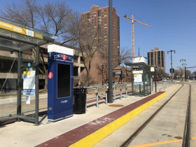CityPost smart kiosk at the Cathedral Square streetcar station