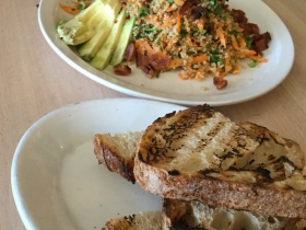 Quinoa Salad and grilled bread