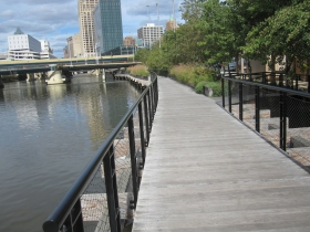 Riverwalk next to the Renaissance Building, 309 N. Water St.