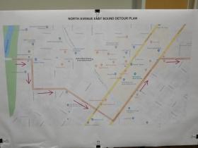 North Avenue east bound detour plan