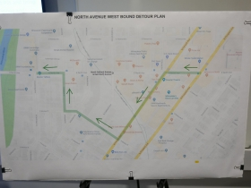 North Avenue west bound detour plan