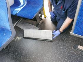 Under-seat vent