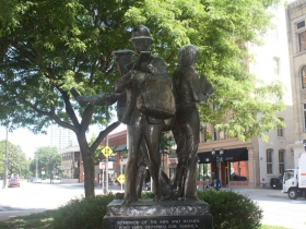 Letter carriers statue