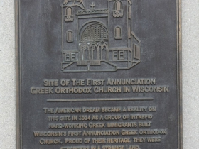 Marker for Annunciation Greek Orthodox Church at Knapp Street