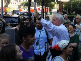 Mayor Tom Barrett at the Climate Strike