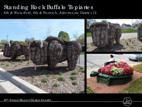 Standing Rock Buffalo Topiaries, 6th & Waterford, 6th & Norwich