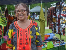 Monica Ashery sold outfits from Tanzania at the African Cultural Festival