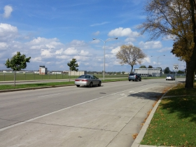 N. Swan Road passes Timmerman Airport