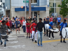 Paradigm Drum Line at Tomato Romp 2019