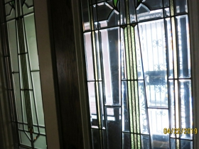 2312-2314 E. Park Pl. leaded glass