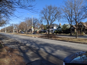 Part of N. 43rd street is named N. Sherman Boulevard