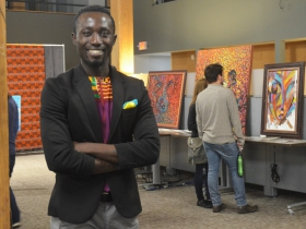 Francis Affortey at his gallery