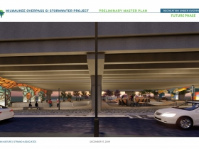 Milwaukee Overpass GI Stormwater Project Rendering - Future Phase