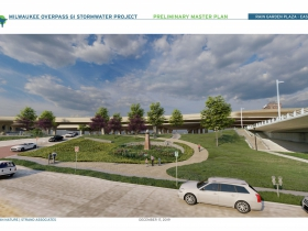 Milwaukee Overpass GI Stormwater Project Rendering