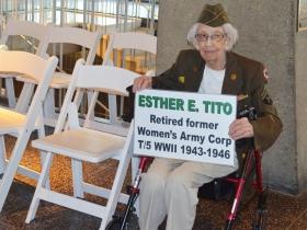 Retired former women's Army Corp. Ester E. Tito