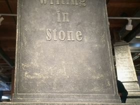 Writing in Stone