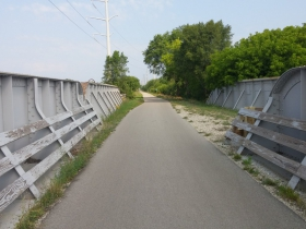The Chicago and North Western Railway route is now part of the Oak Leaf Trail