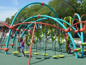 The new play structure at Columbia Playfield