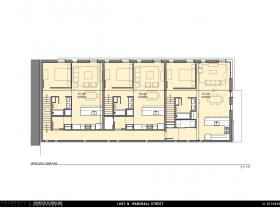 Upper level floor plan, 1697 N. Marshall St.